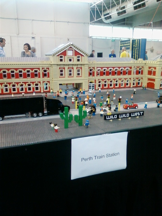 Perth Train Station lego sculpture at Claremont Showgrounds exhibition 2012